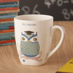 Personalised Teacher Mr Or Miss Owl Mug/Card