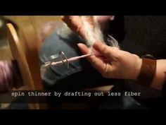 WoolWench Coreless Corespinning - YouTube