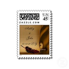 #vintage scroll #custom #usps #weddingstamps by #mgdezigns . The image ,design and idea is copyright @Maria Canavello Mrasek.G all rights reserved.You can REPIN it.