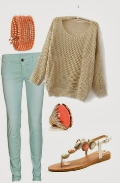 super cute teal outfis | ... -sandals-252c-really-cute-outfit-for-spring-or-summer-252c-but-it.jpg