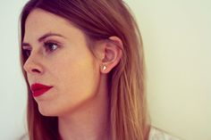 <3 these earings!  (paper and chain)