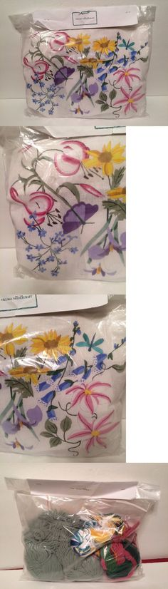 Needlepoint Kits 3109: Village Needlecraft Needlepoint Kit Garden Flowers 1 #731P Vintage - New -> BUY IT NOW ONLY: $30.39 on eBay!