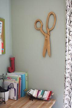 giant wall scissors. Cute!