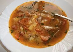 Hlivová polievka s klobásou