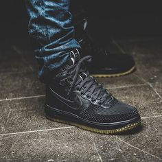 new concept 3ef72 ba89d Nike Lunar Force 1 Duck Boot  Black  Nike Duck Boots, Black Shoes,