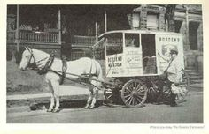 old pictures of milk wagons | Milk wagon similar to those in London On in the late 50's