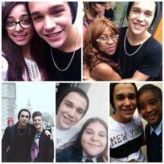 Austin with some fans in London.