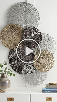Diy Crafts Videos, Diy Crafts To Sell, Diy Crafts For Kids, Home Crafts, Metal Wall Decor, Diy Wall Art, Floral Wall Art, Art Mural, Diy Wood Projects