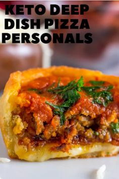 Keto Deep Dish Pizza Personals | carb delish Blanched Almond Flour, Blanched Almonds, Coconut Flour, King Food, Food To Go, Deep Dish, Holiday Recipes, Delish, Sausage