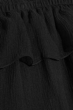 Sonia Rykiel - Off-the-shoulder Ruffled Silk-georgette Blouse - Black - FR34
