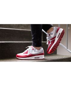 watch 31ac1 ecd2f Cheap Nike Air Max 90 Mens Leather White Red Mens Trainers Sale UK
