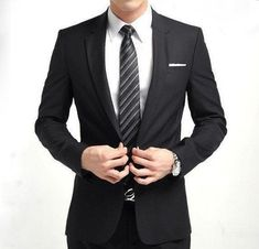 Willstyle Fashion One Button Men's Suit Includes: 1xJacket+1xPants #MensFashionSuits #MensFashionBusiness #menaccessories #mensuits