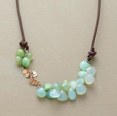 Mountain Horizons Necklace~   The glimmer of faceted Peruvian opals and 14kt gold paillettes