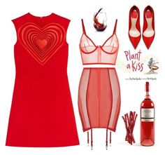 """Red Valentine"" by didesi ❤ liked on Polyvore featuring Christopher Kane"