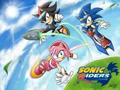 Sonic riders-shadow x amy x sonic by DreamingClover on DeviantArt Amy Rose, Shadow The Hedgehog, Sonic The Hedgehog, Sonic Y Amy, Sonic Fan Characters, Sonic And Shadow, Sonic Fan Art, Happy Chinese New Year, Deviantart