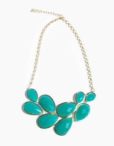 Turquoise necklace--would look good in gold