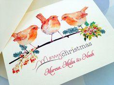 Cartoline di Natale personalizzate, Set di 10 cartoline