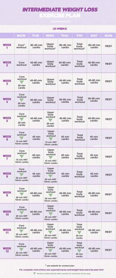 12 Week Weight Loss WORKOUT PLAN