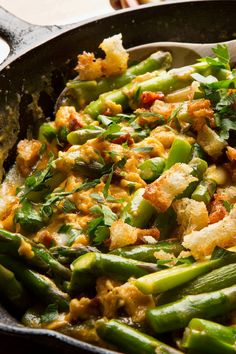 In Spain, wild asparagus is very popular, and it's a sure sign of spring. This dish features typical Spanish ingredients — garlic, chorizo and bread crumbs — incorporated into soft scrambled eggs, for a hearty breakfast, or a simple lunch or first course. (Photo:  Fred R. Conrad/The New York Times)