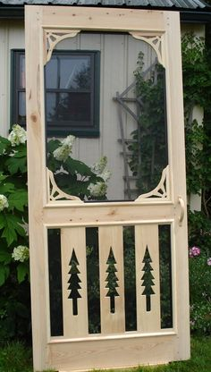Pine Trees Cypress Screen Door by PortHermanDesigns on Etsy, $295.00