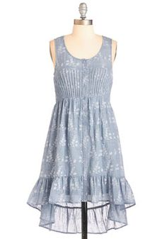 Boho My Goodness Dress. Your friends will cry out in glee when they catch a glimpse of you in this flowy chambray dress! #blue #modcloth