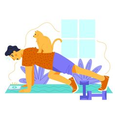 Training at home concept Free Vector Man Vector, Vector Art, Flat Design Illustration, Aesthetic Indie, Stay At Home, How To Do Yoga, Cute Wallpapers, At Home Workouts, Training