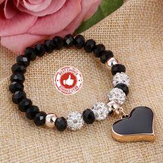 Handmade 2019 Crystal Butterful Bracelet, Heart Bracelets For Women Handmade Shambhala Beads Crystal Bracelets, Bangle Bracelets, Bangles, Elastic Heart, Heart Bracelet, Handmade Bracelets, Jewellery, Beads, Crystals