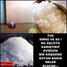 Against Negative Energy in the House: Try Salt, Vinegar and Water, You'll See it Works… In fact, Homemade Deodorant, Homemade Skin Care, Turkish Kitchen, Vinegar And Water, Natural Cleaning Products, Diet And Nutrition, Food Design, Good To Know, Home Remedies