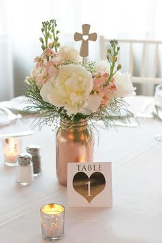 Gorgeous Mason Jars Wedding Centerpieces ❤ See more: http://www.weddingforward.com/mason-jars-wedding-centerpieces/ #weddings