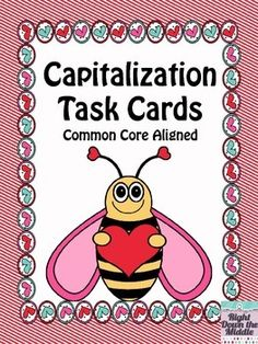 Capitalization Task Cards are great to use as a center activity, as skill reinforcement, and as practice for upcoming assessments. ($)
