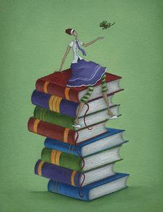 Readings accumulate / Se acumulan las lecturas (ilustración de Mandy Pritty)