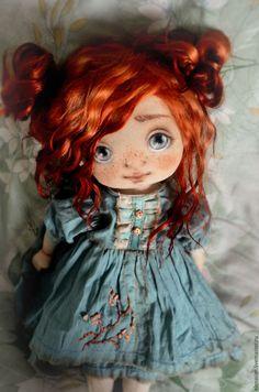 Коллекционные куклы ручной работы. Ярмарка Мастеров - ручная работа. Купить Аринка. Handmade. Голубой, авторская кукла, подарок девушке