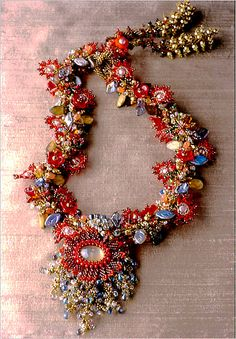 Dahlia Necklace by Laura McCabe
