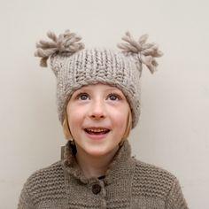 selvedge . pip-squeak chapeau - liberty hat : hand-knit alpaca s m l