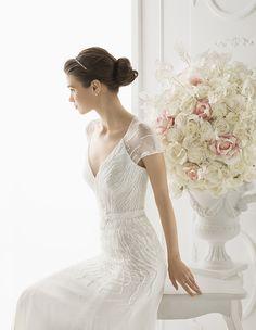 Aire Barcelona by Rosa Clara 2014 - beaded wedding dress - Model 153 Opalina