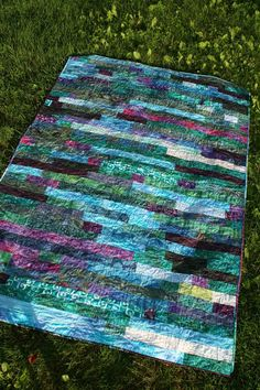 A Quarter Inch from the Edge: Friday Finish - Bali Strip Pop! A Quarter Inch from the Edge: Friday Finish - Bali Strip Pop! Batik Quilts, Jellyroll Quilts, Scrappy Quilts, Easy Quilts, Amish Quilts, Strip Quilt Patterns, Jelly Roll Quilt Patterns, Modern Quilt Patterns, Modern Quilting