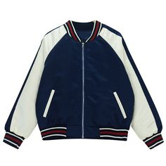 0aeaddc46d0 Chicnova Fashion Baseball Jacket ( 21) ❤ liked on Polyvore featuring  outerwear