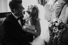 Their sweet first moments as newlyweds | Image by Joel Bedford Photography