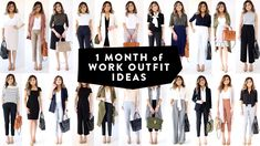 1 MONTH OF WORK OUTFIT IDEAS | Professional Work Office Wear Lookbook | ...