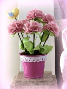 vaso de flores de feltro - Pesquisa Google