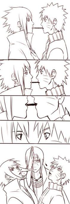 Itachi x Sasuke > Naruto x Sasuke.