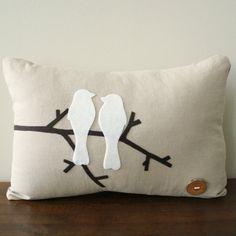 Love Birds pillow cute for master bedroom