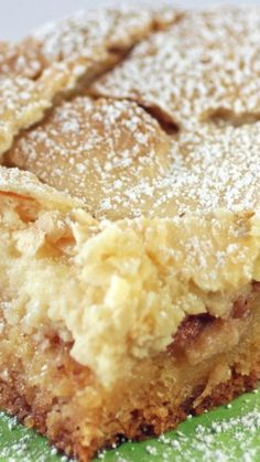 Spiced Apple Ooey Gooey Butter Cake - with a spicy apple filling and topped with cream cheese