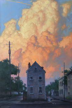 Landscape Art, Landscape Paintings, Art Oil Paintings, Watercolor Paintings, Landscapes, Painting Inspiration, Art Inspo, Sky Painting, Guache