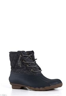 Sperry Top-Sider Saltwater Quilted Duck Boot for Women in Navy STS93027