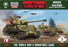 Flames of War 113523: Flames Of War - Usa: M4a3e8 Easy Eight Ubx26 -> BUY IT NOW ONLY: $56.29 on eBay!