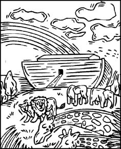 5- bible story coloring pages | bible stories, bible and sunday school - Noahs Ark Coloring Pages Print