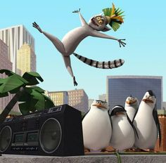 """King Julien in """"The Penguins of Madagascar""""   """"I hope you are enjoying my kingliness!"""""""