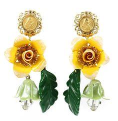 DOLCE & GABBANA - YELLOW FLOWER EARRINGS