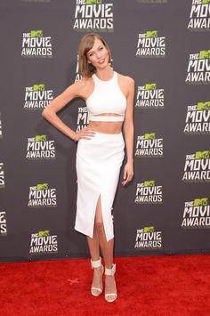 Karlie Kloss wore Spring 2013 Cushnie et Ochs at the MTV Movie Awards in Los Angeles.